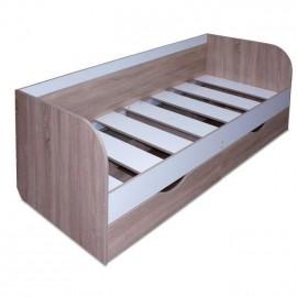 Кровать 1-сп. арт.1.64.1 (800х1950) ЛДСП белый лед/дуб сонома 842х1984хh696мм