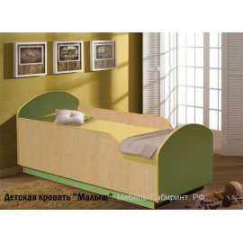 Кровать 1-сп. арт.15.1 (700х1400) ЛДСП клен/лайм 745х1445хh630 мм. Для ребенка от 1 года до 9 лет.