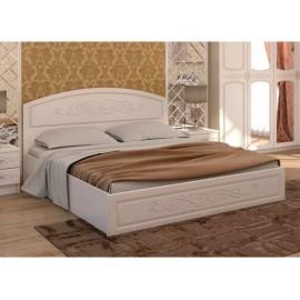 Кровать 2-сп. арт.2.2.2 (1600х2000) МДФ глянец жемчуг/ЛДСП белый 1652хh950х2035мм