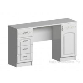 Стол туалетный арт.2.2.11 МДФ глянец жемчуг/ЛДСП белый 1500х420хh820мм