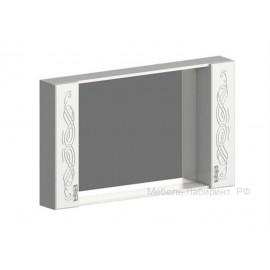 Зеркало арт.2.2.13 МДФ глянец жемчуг/ЛДСП белый 1500х220хh800мм.