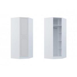 Шкаф угловой арт.2.2.7 МДФ глянец жемчуг/ЛДСП белый 900х900хh2100мм