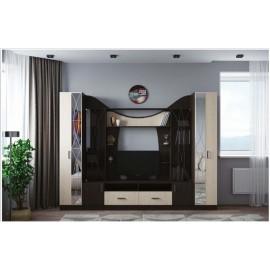 Модульная гостиная арт.2.6 ЛДСП дуб беленый/венге 2800х500хh2120мм
