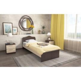 Кровать 1-сп. арт.21.21 (800х2000) ЛДСП дуб выбеленный/венге,ясень шимо светлый/темный 2030х840хh770мм.