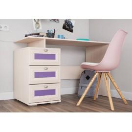 Стол письменный арт.21.90.8 ЛДСП фиолетовый+ЛДСП дуб выбеленный 1200х570хh765мм