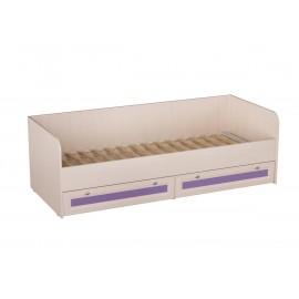 Кровать 1-сп. арт.21.90.4 (800х2000) ЛДСП фиолетовый+ЛДСП дуб выбеленный 2030х840хh650мм