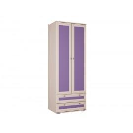 Шкаф 2-х. дв. арт.21.90.5 ЛДСП фиолетовый+ЛДСП дуб выбеленный 800х570хh2150мм