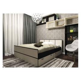 Кровать 1.5-сп. арт.22.13 (1200х2000) ЛДСП дуб беленый/венге 1250х2032хh860мм