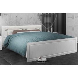 Кровать 2-сп. арт.22.32.5 (1600х2000) фасад МДФ белый/ЛДСП белый 1675х2035хh1000мм