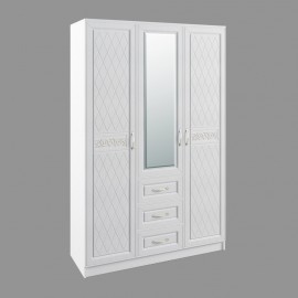Шкаф 3-х. дв. арт.22.32.6 фасад МДФ белый/ЛДСП белый 1350х540хh2100мм