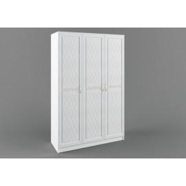 Шкаф 3-х. дв. арт.22.32.7 фасад МДФ белый/ЛДСП белый 1350х540хh2100мм