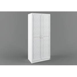 Шкаф 2-х. дв. арт.22.32.8 фасад МДФ белый/ЛДСП белый 900х540хh2100мм