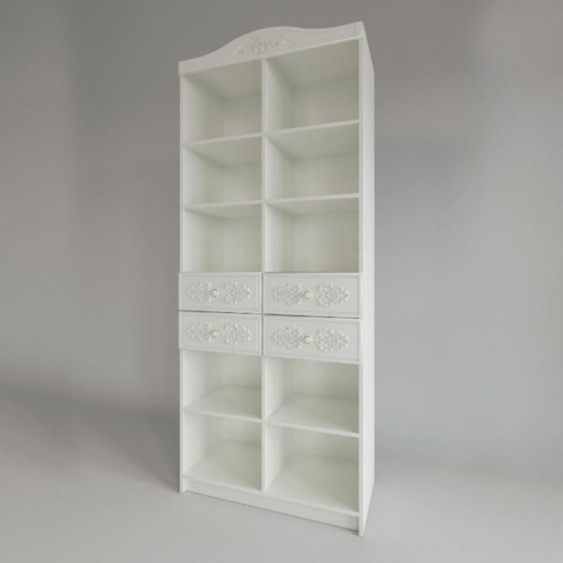Кровать 1-сп. арт.22.40.9 (900х2000) МДФ белое дерево/ЛДСП белый 2032х970хh900мм