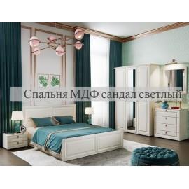 Модульная спальня арт.24.121 МДФ сандал светлый матовый/ЛДСП сандал