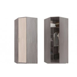 Шкаф угловой арт.24.20.12 ЛДСП ясень шимо светлый/темный (850х850)х520хh2016мм