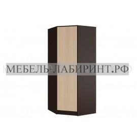 Шкаф угловой арт.24.20.12 ЛДСП дуб беленый/венге (850х850)х520хh2016мм