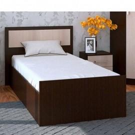 Кровать 1-сп. арт.24.20.3 (900х2000) ЛДСП дуб беленый/венге 935х2037хh800мм