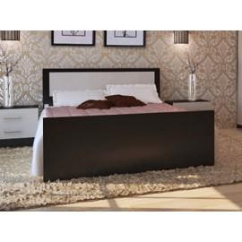 Кровать 1.5-сп. арт.24.20.4 (1200х2000) ЛДСП дуб беленый/венге 1235х2037хh800мм
