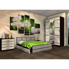 Модульная спальня арт.24.25 ЛДСП дуб беленый/венге