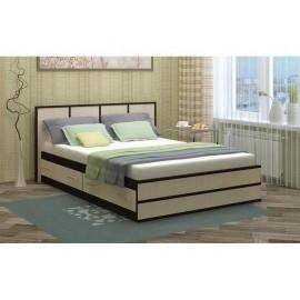 Кровать 2-сп. арт.24.25.5 (1400х2000) ЛДСП дуб беленый/венге 1530х2037хh800мм