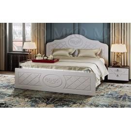 Кровать 2-сп. арт.24.29.1 (1400х2000) МДФ жемчуг/ЛДСП венге 1550х2037хh1150мм.
