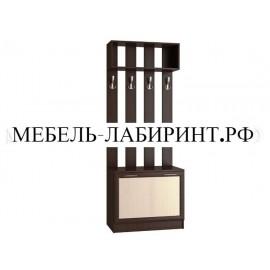 Вешалка арт.24.50.1 ЛДСП дуб беленый/венге 800х440хh2100мм.