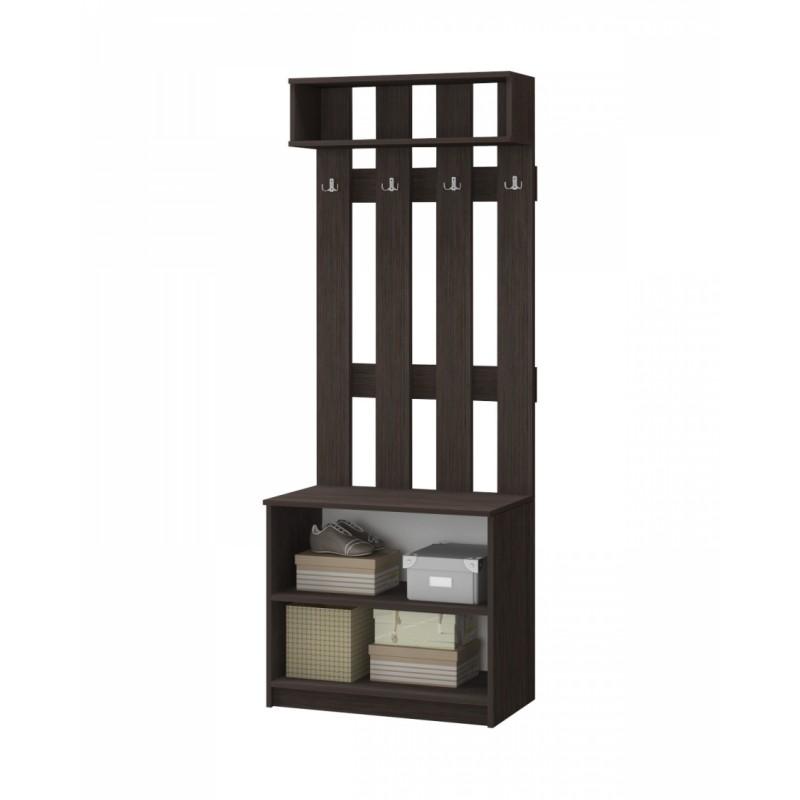 Шкаф 2-х. дв. арт.24.50.2 ЛДСП дуб беленый/венге 800х440хh2100мм.