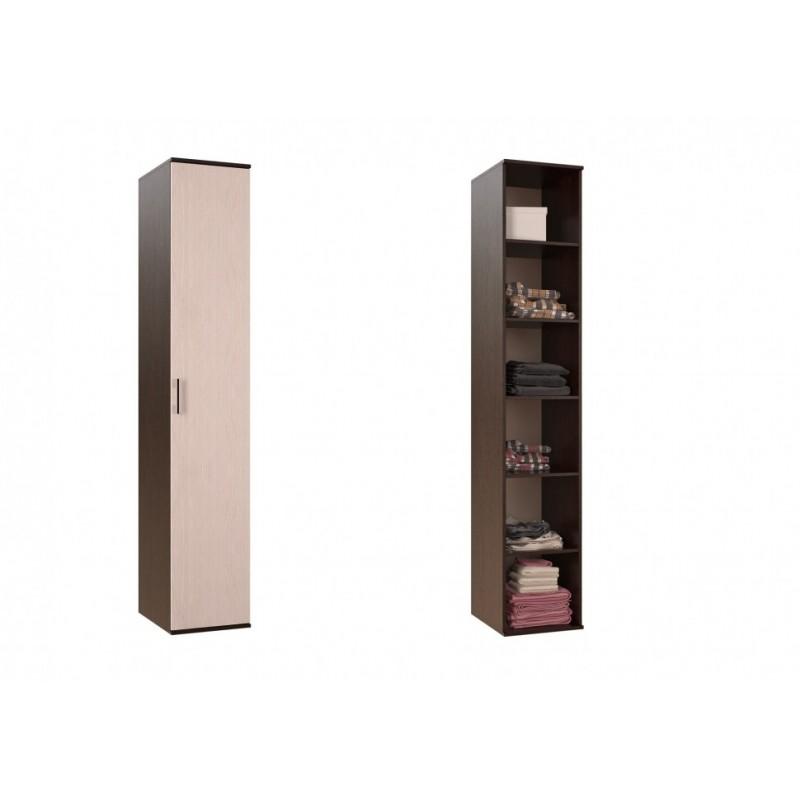 Модульная гостиная арт.24.67 ЛДСП дуб беленый/венге 2676х556хh21200мм (ниша под ТВ 1300хh556мм)