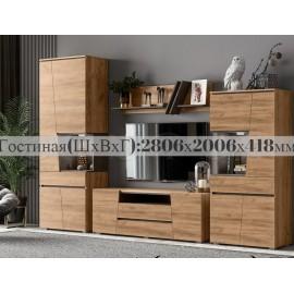 Модульная гостиная арт.24.76 ЛДСП дуб крафт/бетон темный 2806х418хh2006мм
