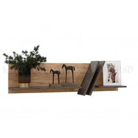 Полка навесная арт.24.76.4 ЛДСП дуб крафт/бетон темный 1200х200хh350мм