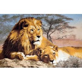 Картина-животные арт.28.23 1100х700мм ткань гобелен