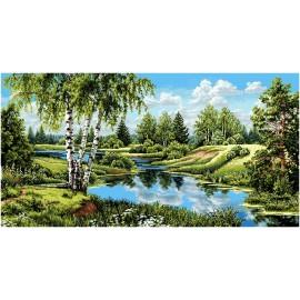 Картина-пейзаж арт.28.24 1000х500мм ткань гобелен