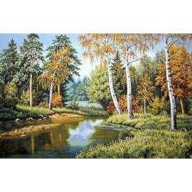 Картина-пейзаж арт.28.25 750х500мм ткань гобелен