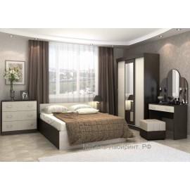 Модульная спальня арт.4.43 ЛДСП дуб беленый/венге