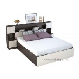 Кровать 2-сп. арт.4.43.10 (1600х2000) ЛДСП дуб беленый/венге 2352хh1020х2232мм.