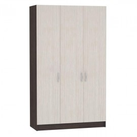 Шкаф 3-х. дв. арт.4.43.15 ЛДСП дуб беленый/венге 1200х490хh1980мм.