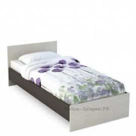 Кровать 1-сп. арт.4.43.5 (800х2000) ЛДСП дуб беленый/венге 852хh700х2032мм.