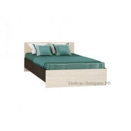 Кровать 2-сп. арт.4.43.8 (1400х2000) ЛДСП дуб беленый/венге 1552хh700х2032мм.
