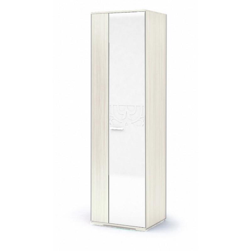 Шкаф 2-х. дв. арт.42.10.3 фасад МДФ белый глянец, ЛДСП дуб белфорд/каркас ЛДСП дуб белфорд 600х516хh2150мм