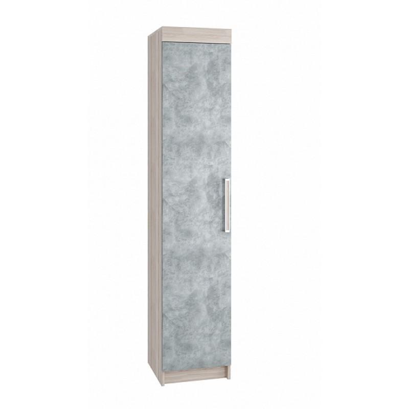 Пенал арт.42.9.2 фасад МДФ бетон/каркас ЛДСП ясень шимо светлый  400х410хh2200мм