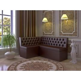 Кухонный диван арт.43.10 кожзам коричневый 1200х1600хh850мм.