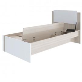 Кровать 1-сп. арт.49.1.6 (800х2000) ЛДСП белый/ясень шимо светлый 2046х1156хh1010мм