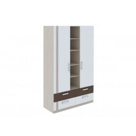 Шкаф 3-х. дв. арт.49.1.7 ЛДСП белый/ясень шимо светлый 1200х515хh2000мм