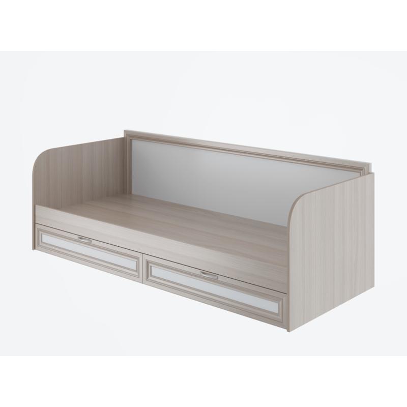 Кровать 1-сп. арт.49.3.17 (800х2000) профиль МДФ/ЛДСП белый/ясень шимо светлый 850х2055хh705мм