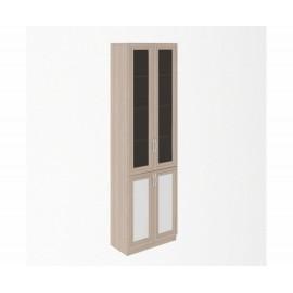 Шкаф для книг арт.49.3.22 профиль МДФ/ЛДСП белый/ясень шимо светлый 600х325хh2000мм