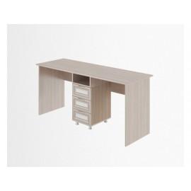 Стол письменный арт.49.3.5 профиль МДФ/ЛДСП белый/ясень шимо светлый 1700х600хh740мм