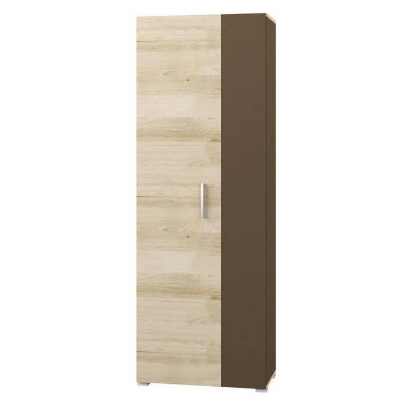 Шкаф 2-х. дв. арт.71.19.5 ЛДСП бук песочный/латте 679х350хh1912мм.