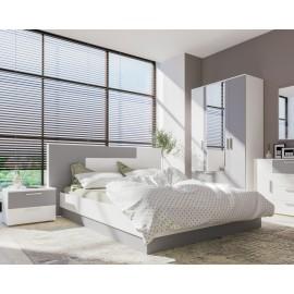 Модульная спальня арт.71.3 ЛДСП серый шифер 16мм./ЛДСП белый премиум 16 мм.