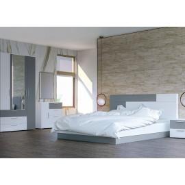 Модульная спальня арт.71.3 ЛДСП серый шифер 16мм./ЛДСП белый премиум 16мм.