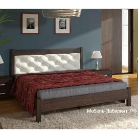 Кровать 2-сп. арт.9.14.4 (1600х2000) ЛДСП старый дуб/кожзам белый 1654х2054хh943мм